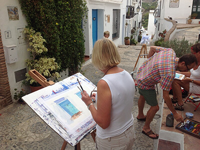 Painting classes in Frigiliana near Malaga